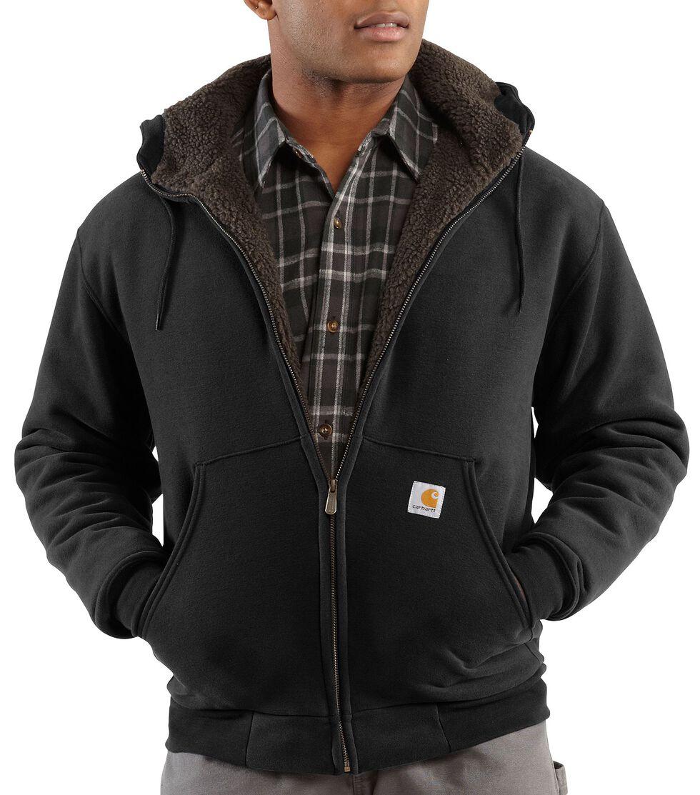 Carhartt Brushed Fleece Sherpa Lined Jacket, Black, hi-res