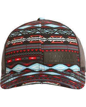 Rock & Roll Cowboy Men's Aztec Print Trucker Cap , Multi, hi-res