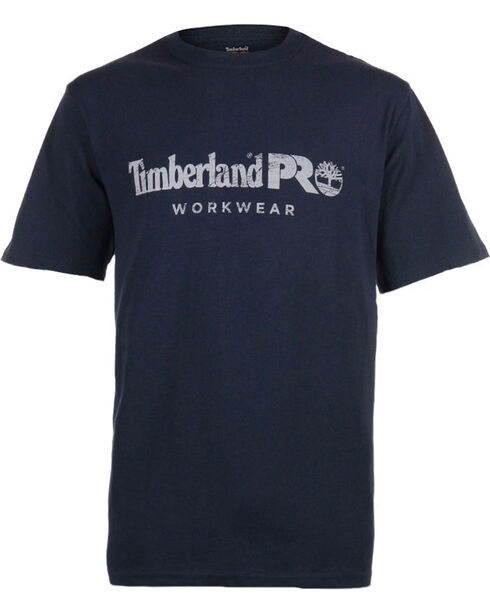 Timberland Pro Men's Navy Workwear Core Logo Tee , Navy, hi-res