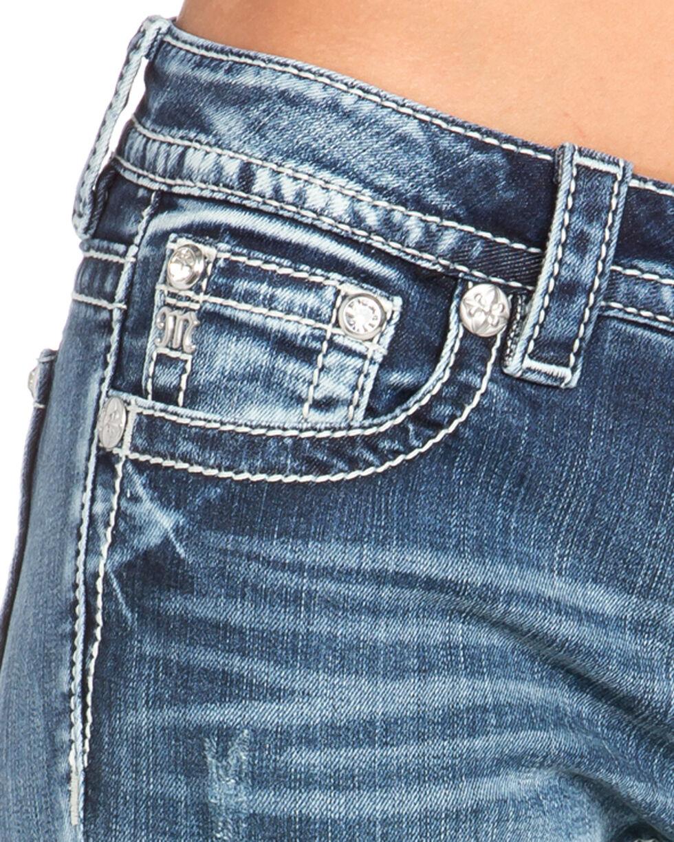 Miss Me Women's Aztec Embellished Boot Cut Jeans  , Indigo, hi-res