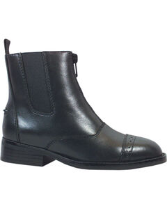 Smoky Mountain Youth Zipper Leather Paddock Boots, Black, hi-res