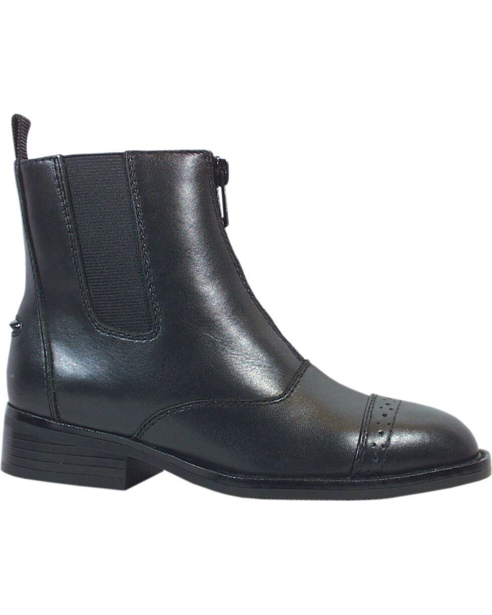 Smoky Mountain Youth Zipper Leather Paddock Boots, , hi-res