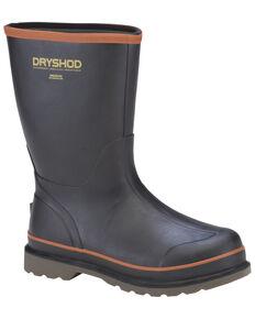 Dryshod Men's Hogwash Steel Toe Boots, Black/red, hi-res