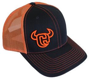 Cowboy Hardware Logo 2-Tone Trucker Cap, Charcoal Grey, hi-res
