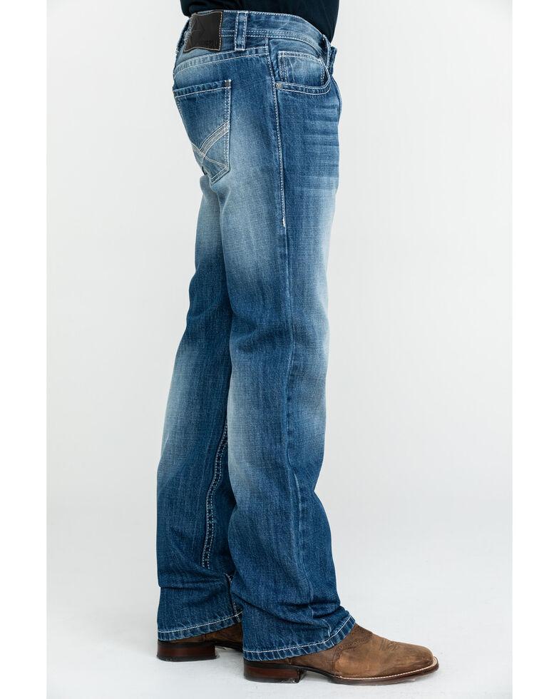 Rock & Roll Cowboy Men's Light X Pocket Vintage Pistol Straight Jeans , Blue, hi-res