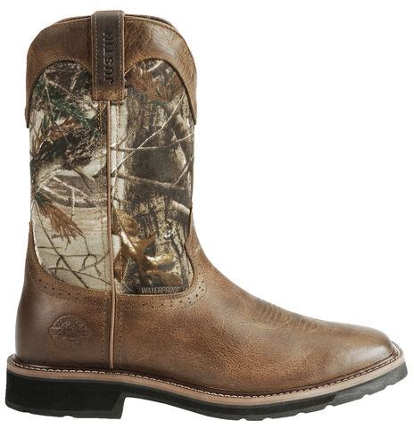 Justin Men S Stampede Trekker Camo Waterproof Boots Soft