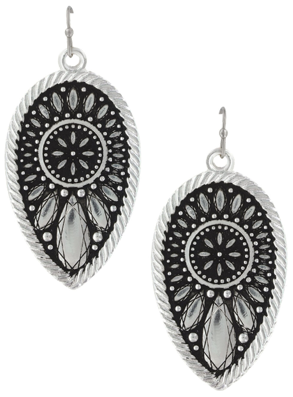 Montana Silversmiths Women's Frozen Prairie Clover Earrings, Silver, hi-res