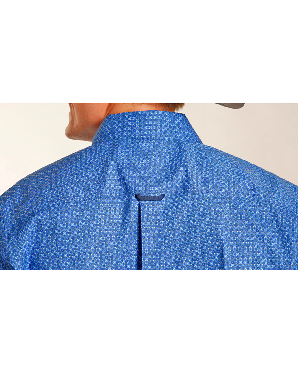 Tuf Cooper Performance Men's Blue Geo Print Shirt , Blue, hi-res