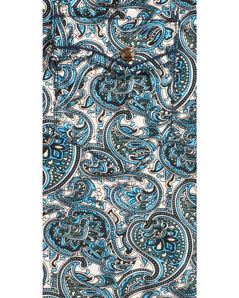 Cody James Boys' Paisley Patterned Long Sleeve Shirt, Blue, hi-res