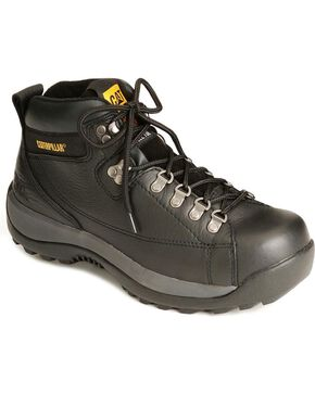 Caterpillar Hydraulic Lace-Up Hiker Boots - Steel Toe, Black, hi-res