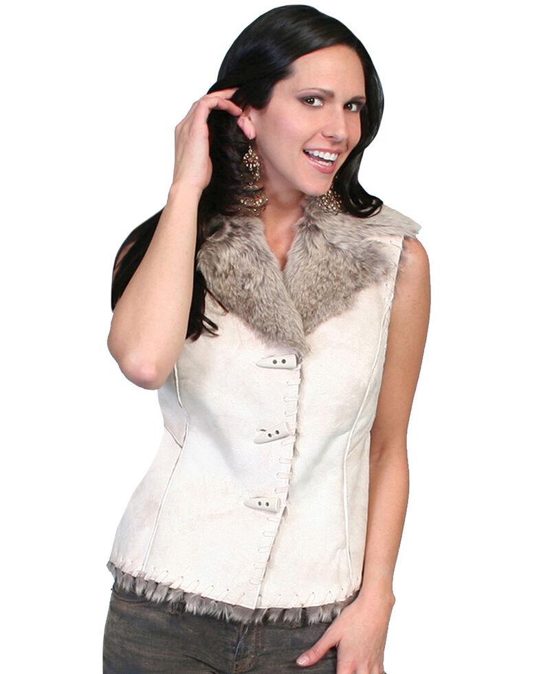 Scully Faux Shearling Vest, Chalk, hi-res