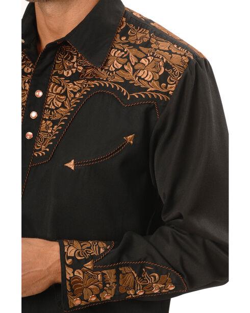 Scully Men's Copper Embroidered Gunfighter Shirt, Black, hi-res