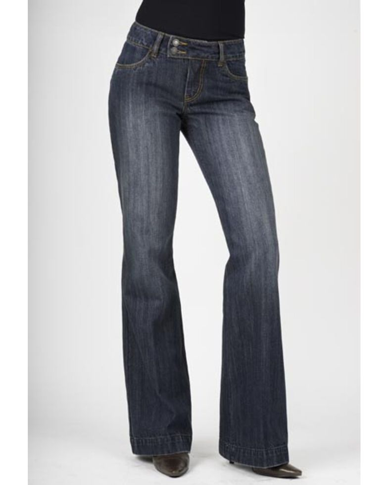 5051536be5 Zoomed Image Stetson Women's 214 Fit City Trouser Jeans, Med Wash, hi-res