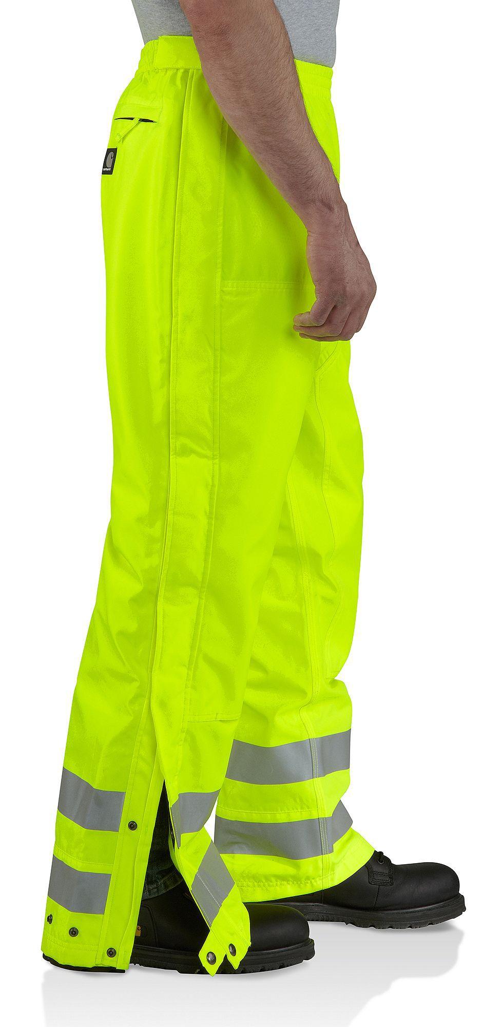 Carhartt High-Visibility Class E Waterproof Pants, Lime, hi-res