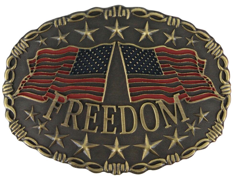 Cody James Men's Freedom Belt Buckle, Silver, hi-res