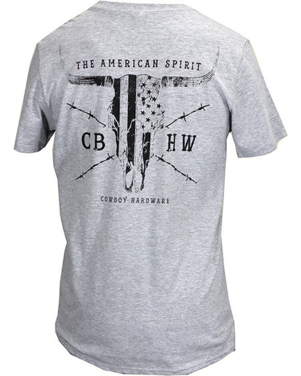 Cowboy Hardware Men's American Spirit Tee, White, hi-res
