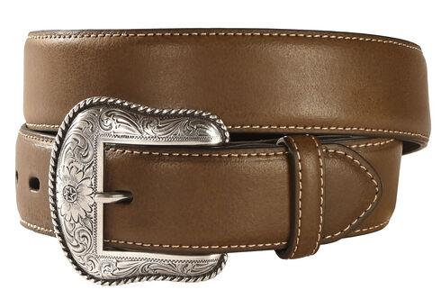 Nocona Solid Brown Western Belt, Assorted, hi-res