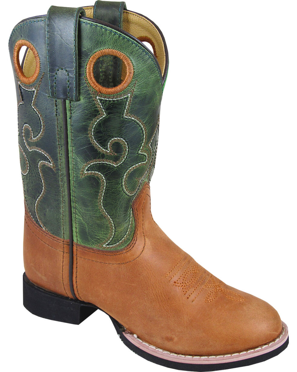 Smoky Mountain Youth Boys' Rick Western Boots - Round Toe , Brown, hi-res