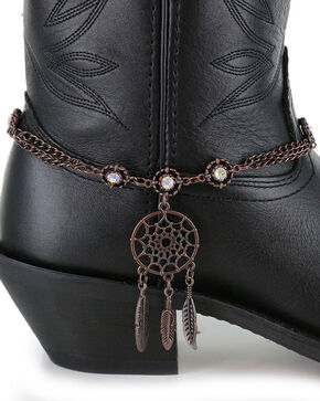 Shyanne Women's Dream Catcher Boot Bracelet, Brown, hi-res