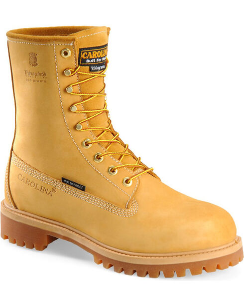 Carolina Men's Wheat Waterproof Insulated Workboots , Wheat, hi-res
