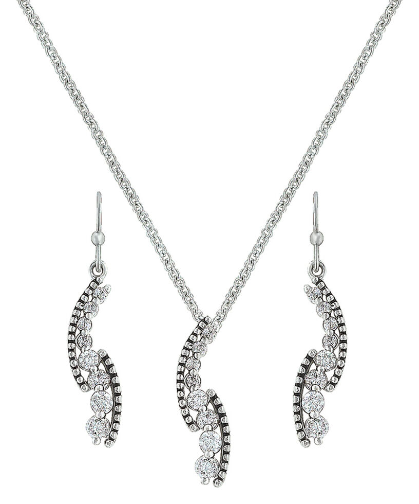 Montana Silversmiths Sparkling Pathway Jewelry Set , Silver, hi-res