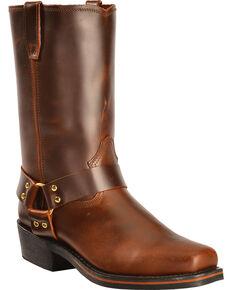 Dingo Jay Harness Boots - Square Toe, Mahogany, hi-res