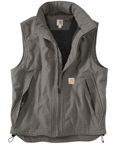 Carhartt Men's Quick Duck Jefferson Work Vest, Charcoal Grey, hi-res