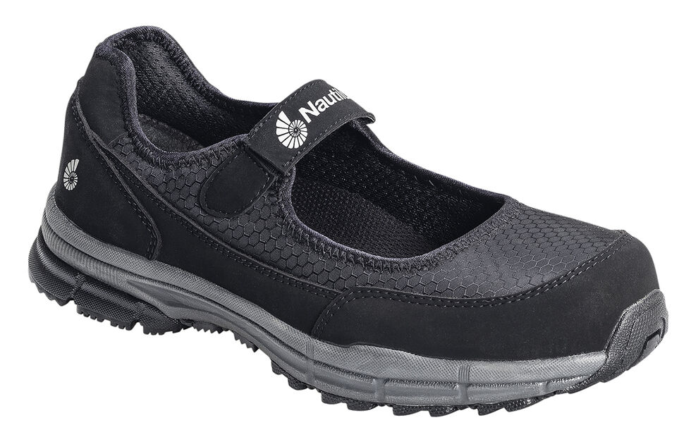 Nautilus Women's ESD Mary Jane Work Shoes - Steel Toe, Black, hi-res