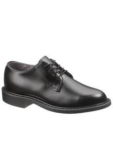 Bates Women's Leather Uniform Oxford Shoes, Black, hi-res