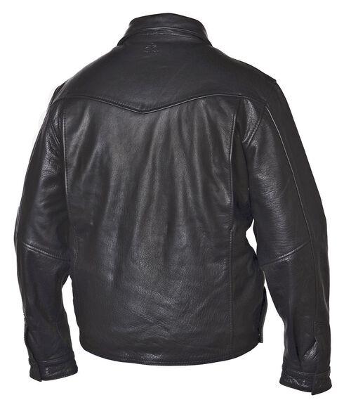 STS Ranchwear Men's Rifleman Black Leather Jacket, Black, hi-res