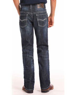 Rock & Roll Cowboy Boys' Reflex Revolver Dark Vintage Wash Jeans (4-20) - Boot Cut, Indigo, hi-res
