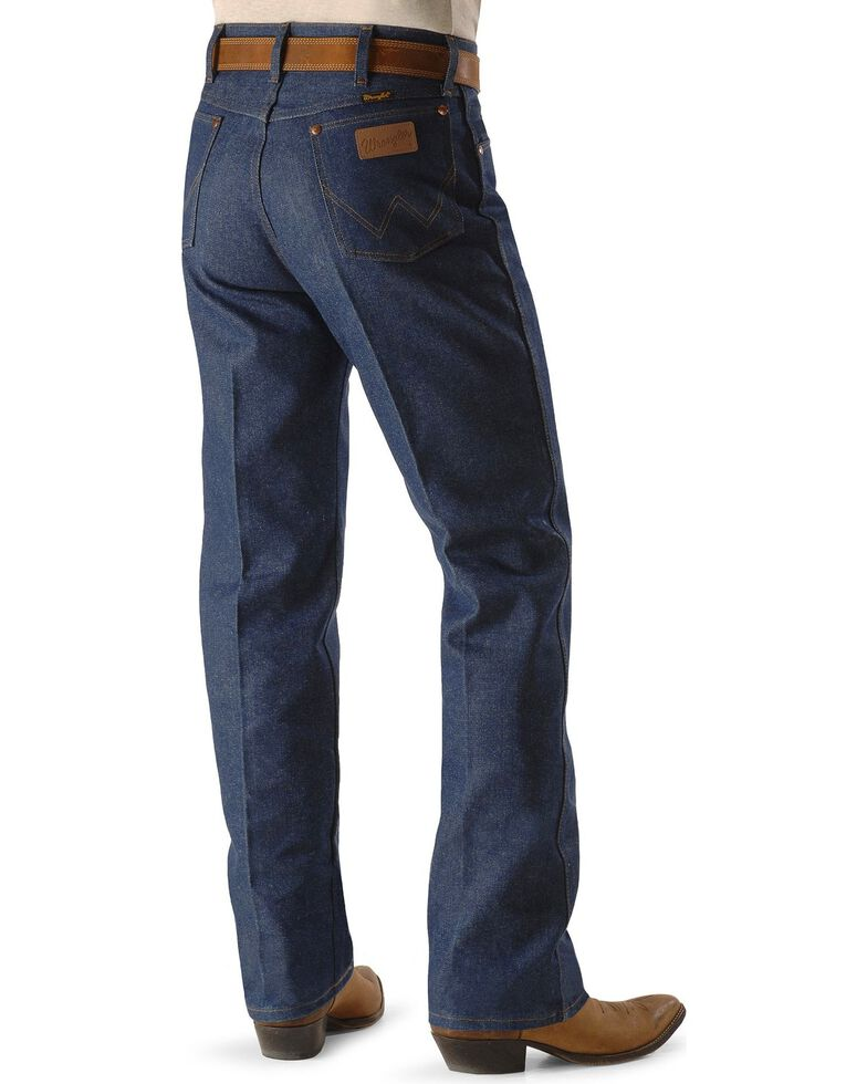 191404c7 Zoomed Image Wrangler 13MWZ Cowboy Cut Rigid Original Fit Jeans, Indigo,  hi-res