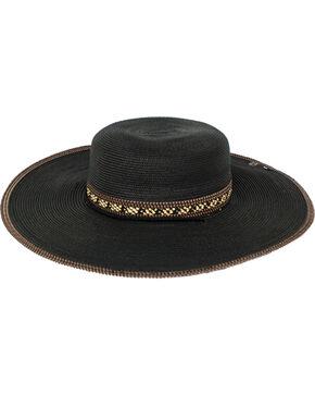Peter Grimm Women's Paxi Straw Hat , Black, hi-res