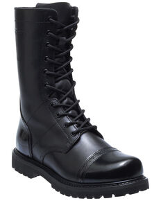 Bates Men's Paratrooper Work Boots - Soft Toe, Black, hi-res