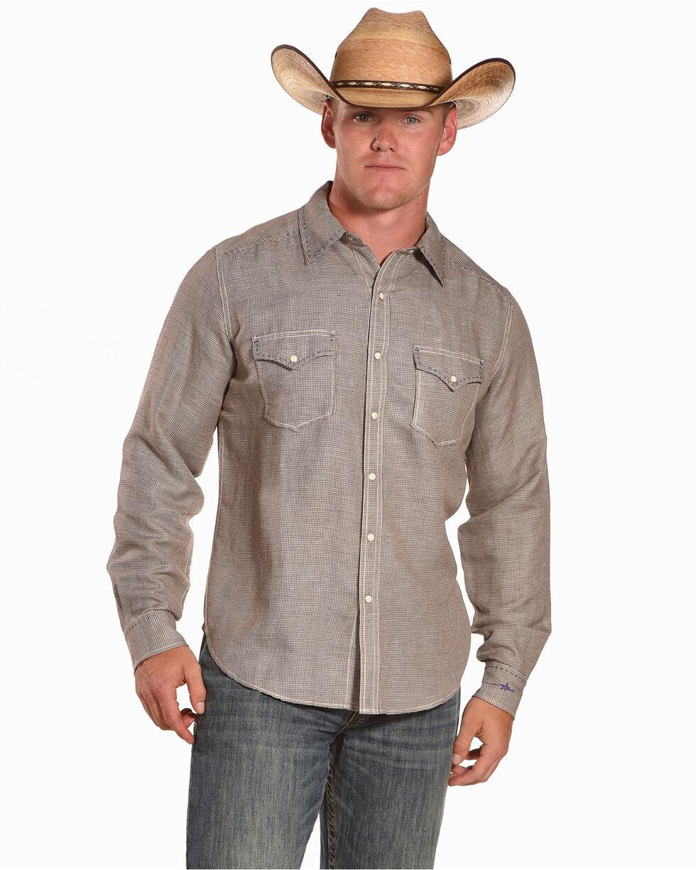 Ryan Michael Men's Earth Hounds Tooth Shirt , Brown, hi-res