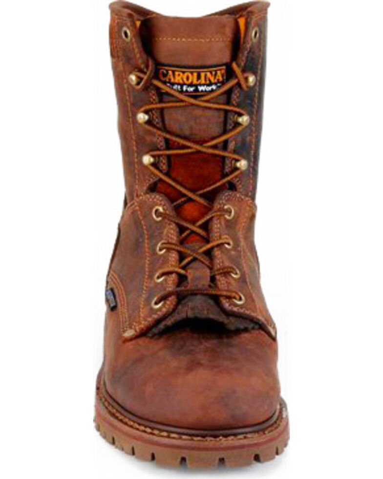 Carolina Men's Brown Waterproof Workboots - Composite Toe, Brown, hi-res