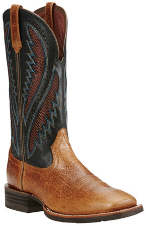 Ariat Men's Quickdraw Venttek™ Boots - Wide Square Toe, Tan, hi-res