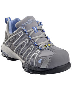 Nautilus Women's ESD Athletic Work Shoes - Composite Toe, Grey, hi-res