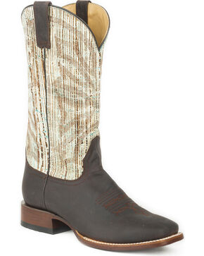 Stetson Men's Brown Anglewood Western Boots - Square Toe , Brown, hi-res