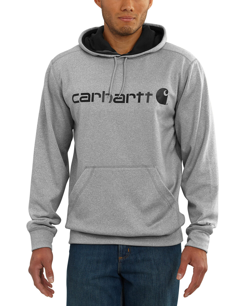 Carhartt Men's Dark Grey Extremes Signature Graphic Hooded Sweatshirt , Dark Grey, hi-res