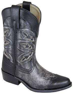 Smoky Mountain Boys' Preston Western Boots - Snip Toe, Black, hi-res