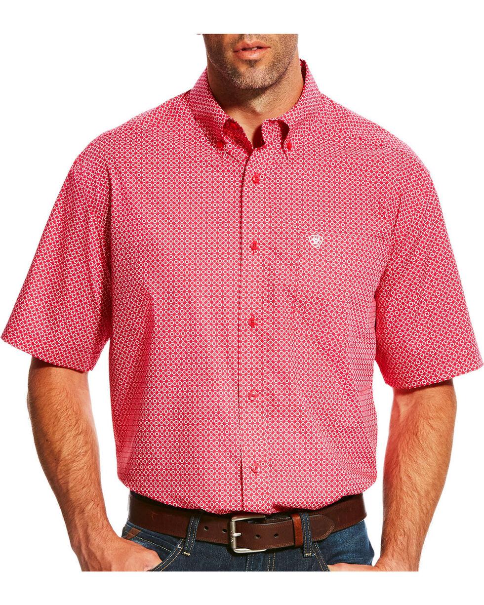 Ariat Men's Lennon Rose Short Sleeve Shirt , Red, hi-res