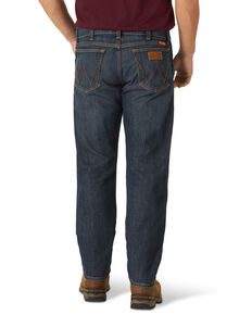 Wrangler Retro Men's FR Eagles Dark Slim Straight Work Jeans , Blue, hi-res