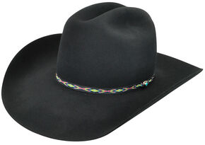 Bailey Men's Black Bridger 3X Wool Felt Cowboy Hat, Black, hi-res