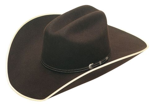 Twister Ruidoso 2X Select Wool Cowboy Hat, Brown, hi-res