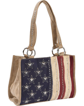 Shyanne Women's Americana Shoulder Bag, Khaki, hi-res