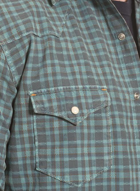 Ryan Michael Men's Dobby Plaid Shirt, Teal, hi-res