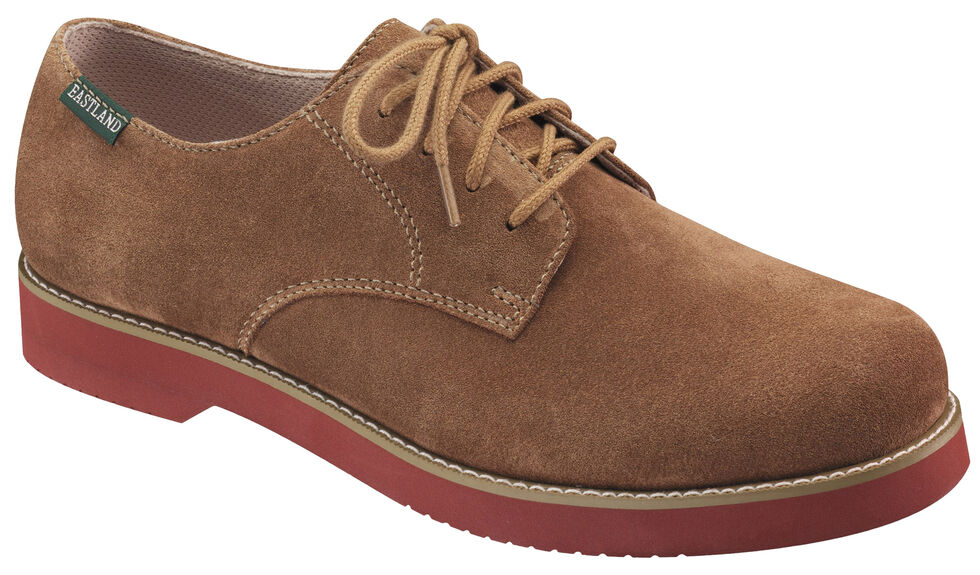 Eastland Men's Taupe Buck Oxfords, Taupe, hi-res