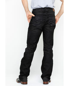 Moonshine Spirit Men's Tar Pit Black Wash Slim Straight Jeans , Black, hi-res