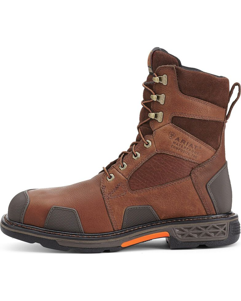 "Ariat Overdrive 8"" Lace-Up Work Boots - Composite Toe, Chestnut, hi-res"